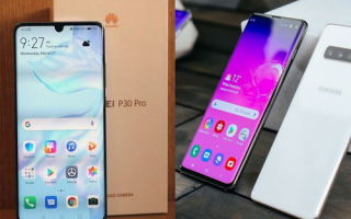 Смартфон Samsung Galaxy S10 против Huawei P30 Pro