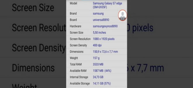 Способы просмотра технических характеристик смартфона Android