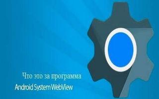 Что за программа Android System Webview и для чего она нужна?