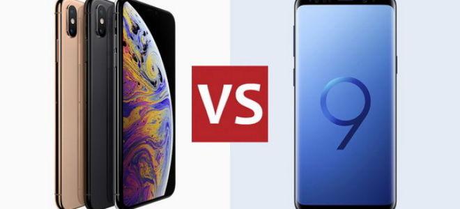 Сравнение iPhone XS и Samsung Galaxy S9