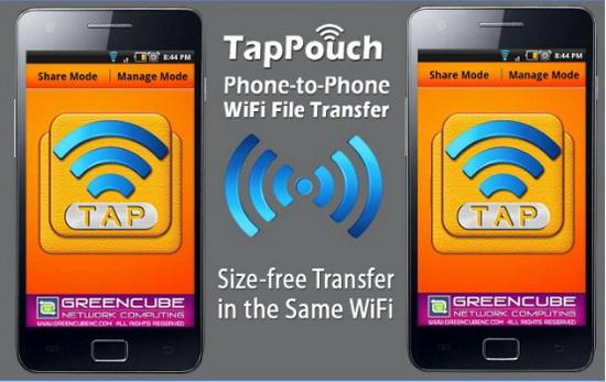 Программа TapPouch Wi-Fi для переноса фото