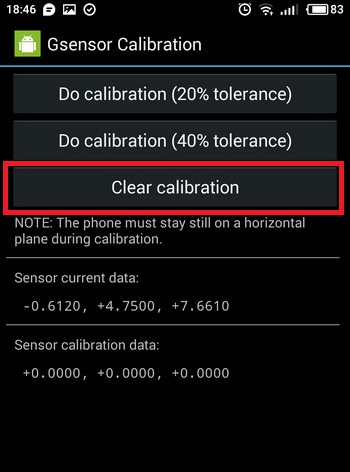 Clear Calibration