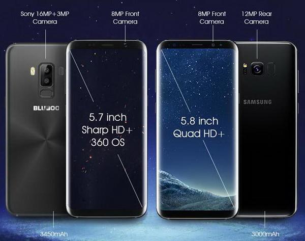 Дизайн Bluboo S8