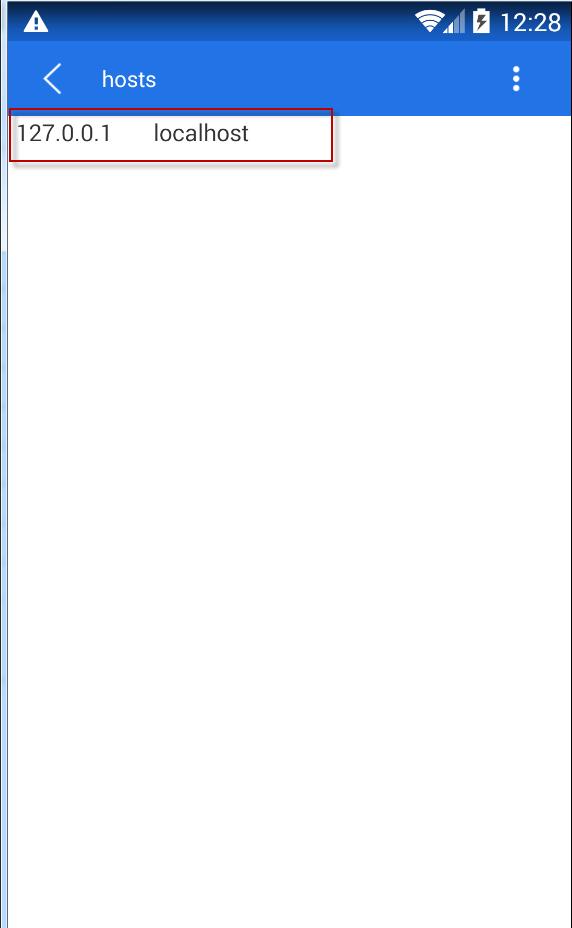 Пример стандартного hosts в андроиде