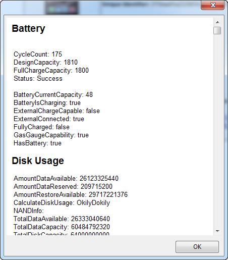 Цикл батареи в iBackupBot