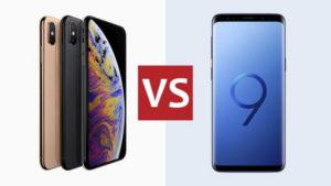iPhone XS и Samsung Galaxy S9