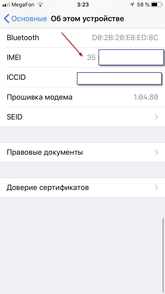IMEI в iOS