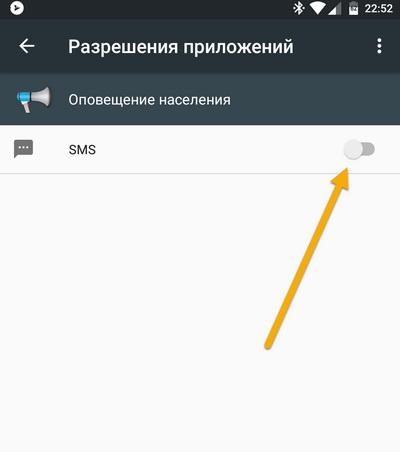 Отключить СМС