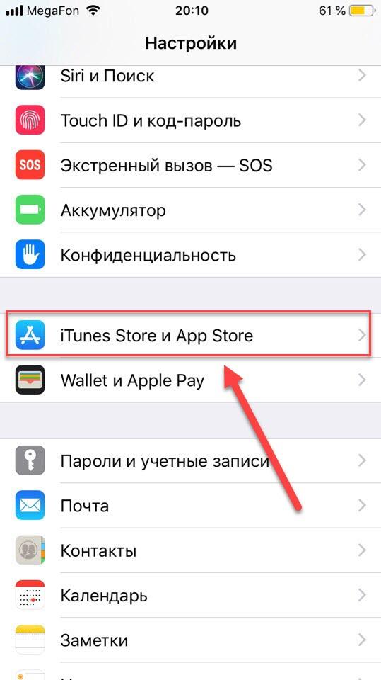 Пункт iTunes и Apple Store
