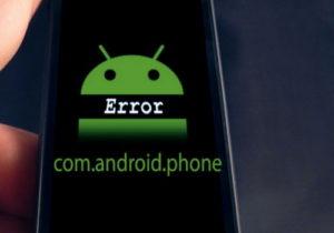 Ошибка com.android.phone на экране Андроид